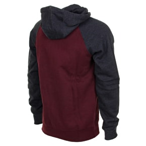 Fox Legacy Zip Hoodie - Heather Burgundy