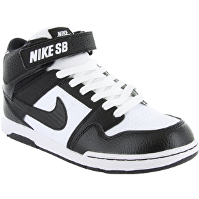Nike Mogan Mid 2 Kids' Shoes - Black/Black/White