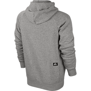 Nike SB Icon Hoodie - Grey Heather/White