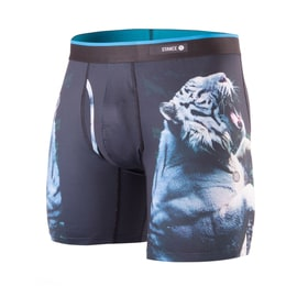 Stance White Tiger Boxers - Black