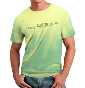 Global Technacolour Graphic T-Shirt Green to Yellow