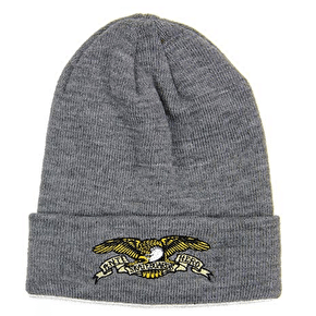 Anti Hero Eagle Cuff Beanie - Charcoal Embroidered
