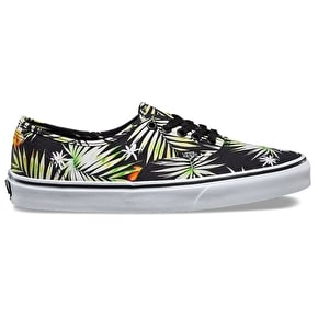 Vans Authentic Skate Shoes - (Decay Palms) Black/True White