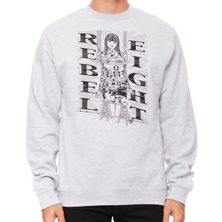 Rebel8 Hit The Walls Crewneck - Grey