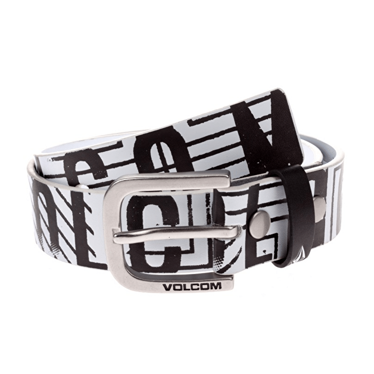 Volcom Mental Kids PU Belt - Paint White
