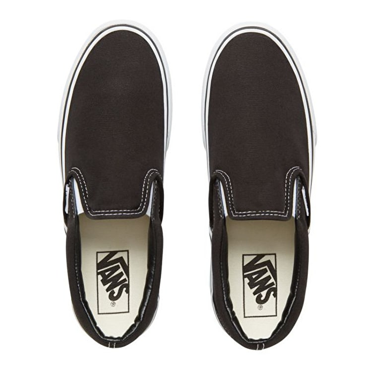 Vans Classic Slip-On Platform Skate Shoes - Black