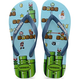 B-Stock Havaianas Mario Bro's Flip-Flops - Blue Splash Size - UK 9/10 (Box Damage)