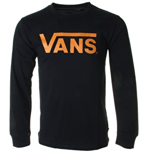 Vans Classic Long Sleeve T-Shirt - Black/Yellow