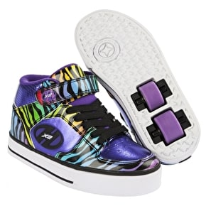 B-Stock Heelys X2 Cruz - Purple/Rainbow/Zebra - Junior UK 13 (Used)