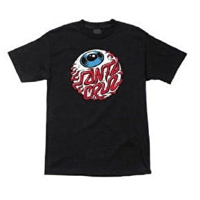 Santa Cruz Eyeball T-Shirt - Black