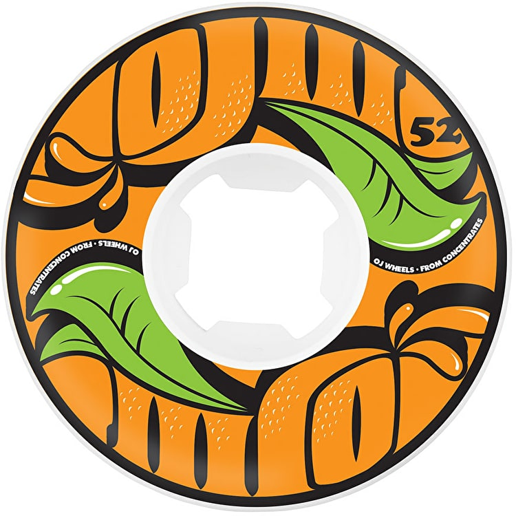 OJ EZ Edge From Concentrate 101a Skateboard Wheels - White 52mm