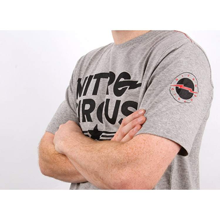 Nitro Circus U.S. Barmy T Shirt - Heather Grey
