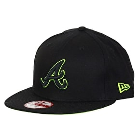 New Era 9Fifty Snapback Cap - Atlanta Braves Pop Black