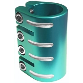 Blazer Pro Quad Bolt Collar Clamp with Shim - Teal