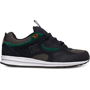 DC Kalis Lite Skate Shoes - Black/Green/Grey