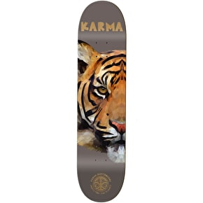 Karma Nature Skate For The Planet Skateboard Deck - Tiger 8