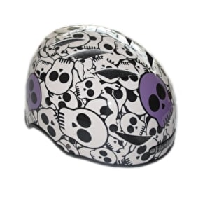 B-Stock HardnutZ Skulls Street Helmet Purple - 51-54cm (Box Damage)