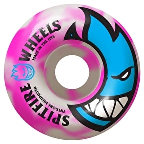 Spitfire Seizure Swirls Skateboard Wheels - Pink/White 53mm (Pack of 4)