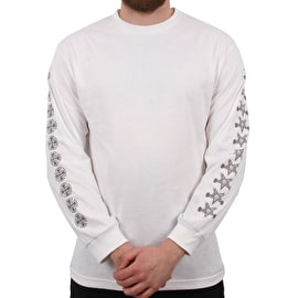 Independent x Thrasher Pentagram Cross Long Sleeve T Shirt - White