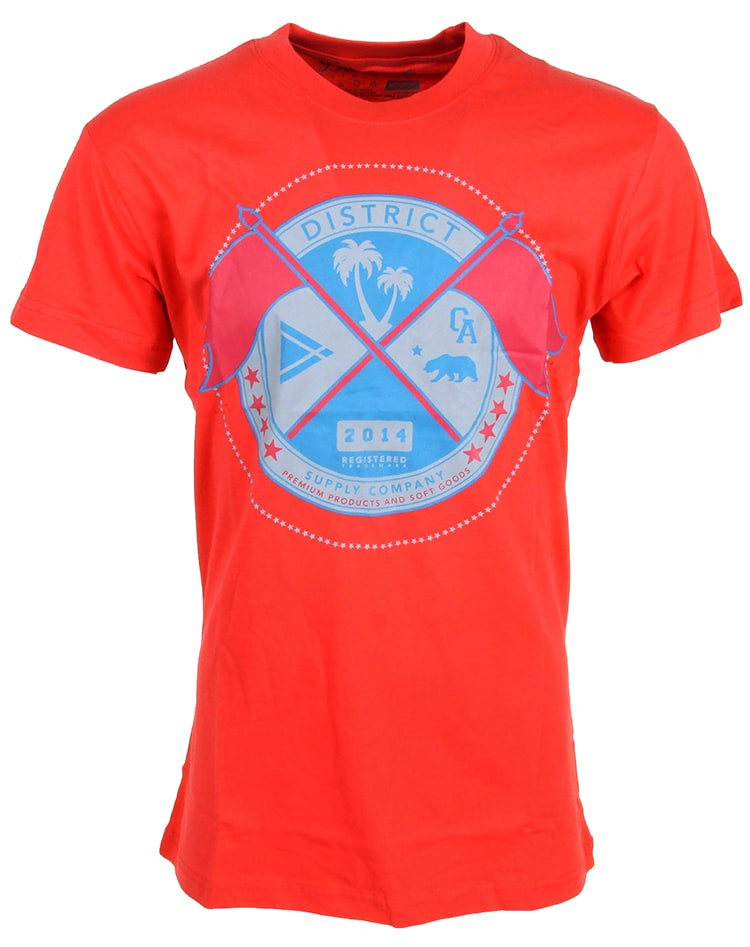 Image of District Supply Co. Seal T-Shirt - Red