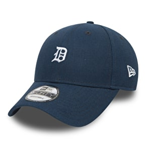 New Era 9Forty Linen Small Logo Cap - Detroit Tigers - Navy