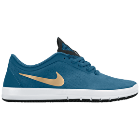 Nike Free SB Nano Shoes - Brigade Blue/Metallic Gold