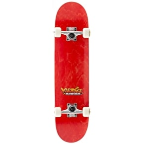 B-Stock Voltage Graffiti Logo Complete Skateboard - Red (Soiled wheels)
