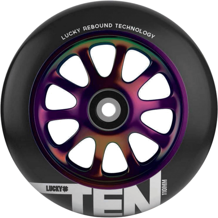 Lucky Ten 110mm Scooter Wheel - Neochrome/Black