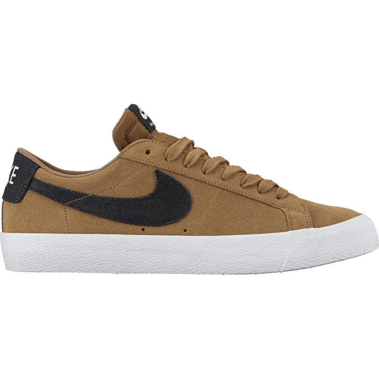 Nike SB Blazer Zoom Low Skate Shoes - Golden Beige/Black