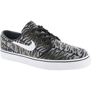 Nike SB Zoom Stefan Janoski Shoes - Black/White/Medium Olive