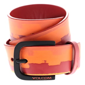 Volcom Mental Kids PU Belt - Why Rock Red