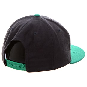 WeSC City Emblem Snapback Cap - Black/Green