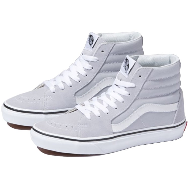 Vans SK8-Hi High Top Skate Shoes - Grey Dawn/True White
