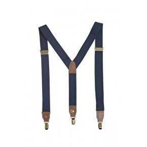 WeSC Koen Suspenders Dark Navy