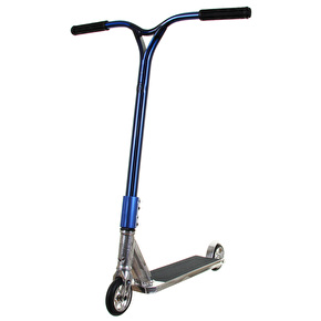 UrbanArtt Custom Scooter - Trail Series - Chrome Mirror/Trans Blue