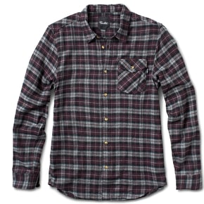 Primitive Philly Heather Flannel Shirt - Burgundy