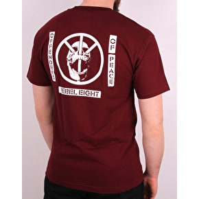 Rebel8 Offender T-Shirt - Burgundy