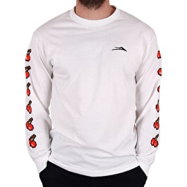 Lakai 8 Bit Long Sleeve T shirt - White