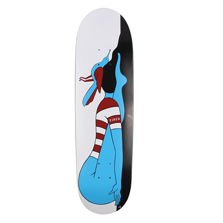 Tired Knocked Out On Joel Skateboard Deck - 8.625""