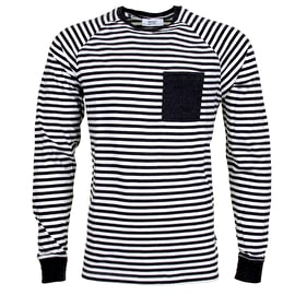 WeSC Balder Long Sleeve T shirt - Asphalt