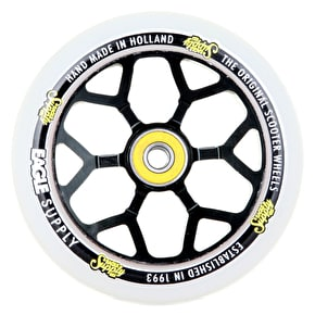 Eagle Sport 110mm 6M Spoked Scooter Wheels - Black/White PU