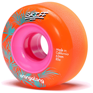 Orangatang Skiff Slasher 62mm 80a Longboard Wheels - Orange