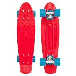 Penny Complete Skateboard - Red / Blue 22