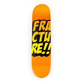 Fracture Skateboard Deck - Comic VT Orange 7.75