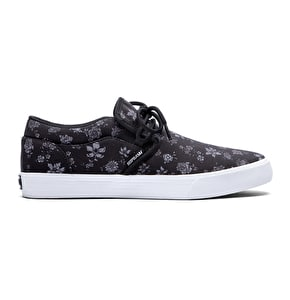 Supra Cuba Shoes - Black/Floral Print