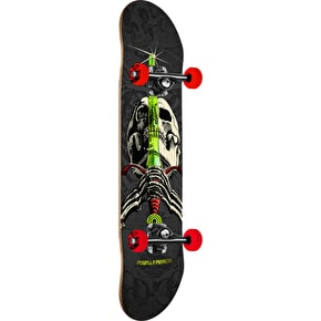Powell Peralta One Off Skull & Sword Complete Skateboard - Grey/Red 7.88