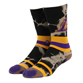 Stance NBA - Lakers Acid Wash Socks - Yellow