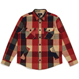 Brixton Durham Long Sleeve Flannel Shirt - Red/Navy