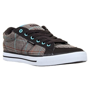 Osiris Barron Kids Skate Shoes - Brown/Plaid/Blue