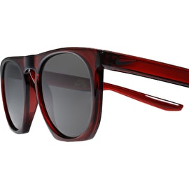 Nike SB Flatspot Sunglasses - Dark Team Red/Black With Dark Grey Lens